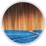 Fire And Ice Round Beach Towel by Bill Wakeley