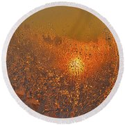 Round Beach Towel featuring the photograph Fire And Ice by Susan Capuano