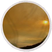 Fire And Sun Round Beach Towel