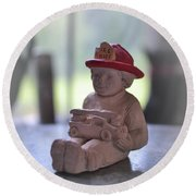 Fire Chief Molded Stone Round Beach Towel