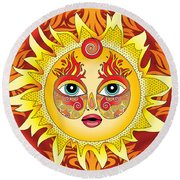 Fire Element Round Beach Towel by Serena King