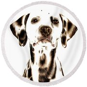 Fire Fighter's Best Friend Round Beach Towel
