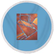 Fire From The Sky Round Beach Towel