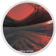 Fire Frost Round Beach Towel