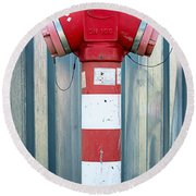 Fire Hydrant Steel Wall Round Beach Towel