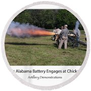 Round Beach Towel featuring the photograph Fire In The Hole  by Norman Peay