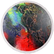Fire Of Passion Round Beach Towel