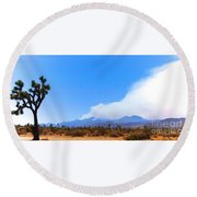 Fire On The Mountain 2 Round Beach Towel by Angela J Wright