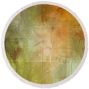 Fire On The Mountain - Abstract Art Round Beach Towel