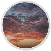 Fire Sky Round Beach Towel by Ana Mireles