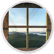 Fire Tower Frame Round Beach Towel