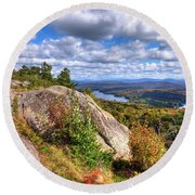 Fire Tower On Bald Mountain Round Beach Towel