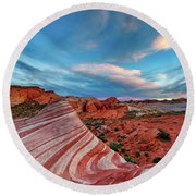 Fire Wave IIi Round Beach Towel