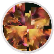 Fire Within - Round Beach Towel