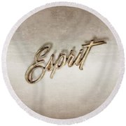 Firebird Esprit Chrome Emblem Round Beach Towel