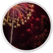 Fired Up Round Beach Towel