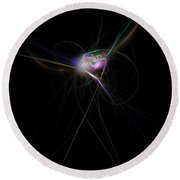 Firefly Scribble  Round Beach Towel