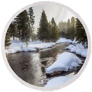 Firehole River Round Beach Towel