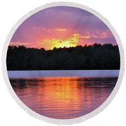 Round Beach Towel featuring the photograph Sunsets by Glenn Gordon