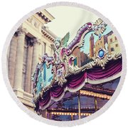 Firenze Carousel Round Beach Towel by Melanie Alexandra Price