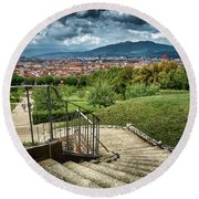Firenze From The Boboli Gardens Round Beach Towel
