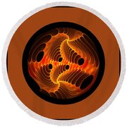 Fires Within Memorial Round Beach Towel
