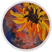 Firespace Flower  27 Round Beach Towel