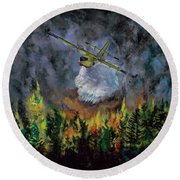 Firestorm Round Beach Towel