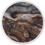 Firewood Abstract Round Beach Towel