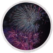 Fireworks 4 Round Beach Towel