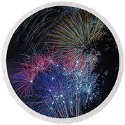 Fireworks 5 Round Beach Towel
