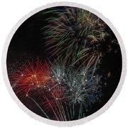 Fireworks 6 Round Beach Towel