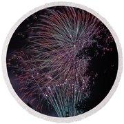 Fireworks 7 Round Beach Towel