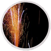 Fireworks II Round Beach Towel