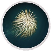 Fireworks Over Texas Round Beach Towel