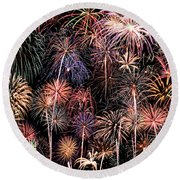 Fireworks Spectacular II Round Beach Towel