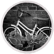 First Bicycle Round Beach Towel