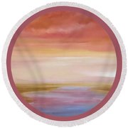 Round Beach Towel featuring the painting First Blush By V.kelly by Valerie Anne Kelly
