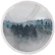 Round Beach Towel featuring the photograph First Day Of Autumn by Katie Wing Vigil
