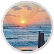 First Day Of Spring  Round Beach Towel