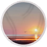 First Encounter Beach Cape Cod Round Beach Towel