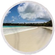 First Footprints Round Beach Towel