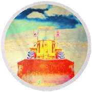 First In  Round Beach Towel by Mark Ross