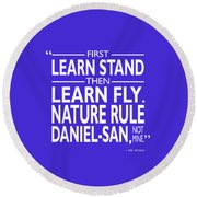 First Learn Stand Round Beach Towel