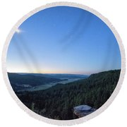 First Light At Salt Creek Round Beach Towel