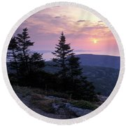 First Light - Fm000127 Round Beach Towel