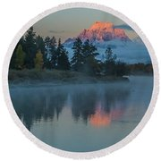 First Light Of Dawn Round Beach Towel by Yeates Photography