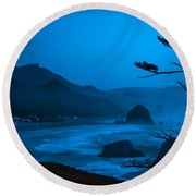 First Light Round Beach Towel