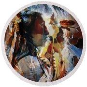 First Nation 67yu Round Beach Towel by Gull G