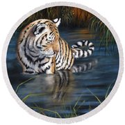 First Reflection Round Beach Towel